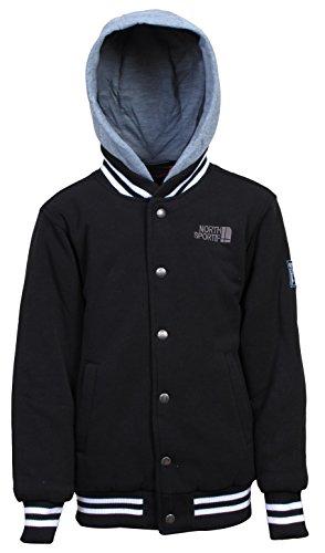 Snap Front Baseball Jacket - 1
