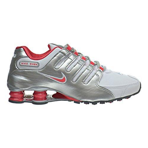 Cheap Nike Shox NZ Women's Shoes White/Ember Glow/Metallic Silver 636088-102 (11 B(M) US)