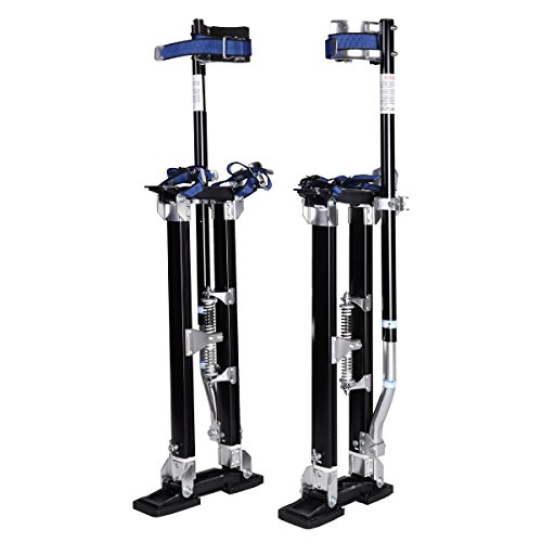 "Goplus Drywall Stilts 24""- 40"" Painting Stilts Aluminum Lifting Tools, Black"