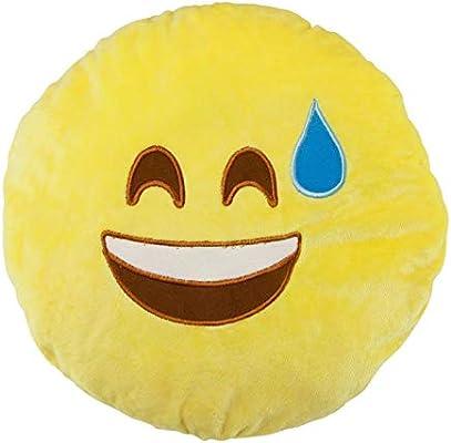 Amazon.com: Emoji Pillows Round Soft Emoticon Plush Toy ...