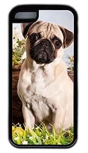 Amazed Perky Pug DIY Rubber Black Best Designed iPhone 6 plus 5.5 Case WANGJING JINDA