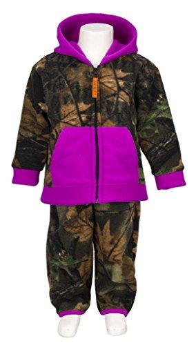 Infant Camo Two Piece Fleece Jacket & Pants Set, 6-12 months, Light Purple (Baby Girl Camo Clothes compare prices)