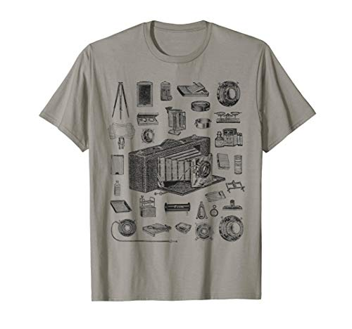 Vintage Large Format Camera Parts Photographer shirts