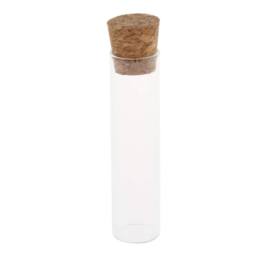Homyl 10PCS Tubes /à /Épices pour Essai Plat en Verre Borosilicat/é 15x70mm