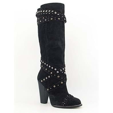 Rachel Roy Rockout Black Women's Boot (9.5, Black)