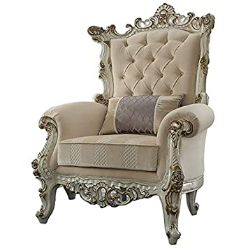 Cool Amazon Com Acme Furniture 53463 Picardy Ii Accent Chair Gmtry Best Dining Table And Chair Ideas Images Gmtryco