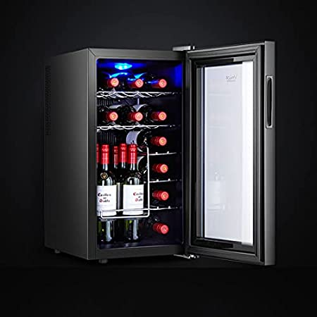 Hmvlw Vinoteca refrigerada Refrigerador de vino electrónico refrigerador de vino temperatura constante refrigerador de vino pequeño hogar electrónico electrónico temperatura refrigeradora