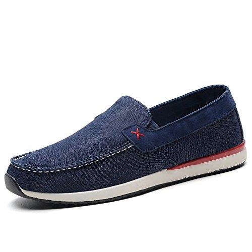 Tiosebon Mens Mocassins Chaussures De Toile Confort Conduite Chaussures Casual Slip On Walking Sneakers 8307 Marine
