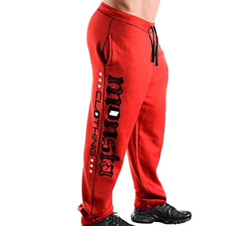 Monsta Clothing Co. Men's Workout (ES: Monsta-MC-Flag) Gym Sweatpants (G:RD/BK)