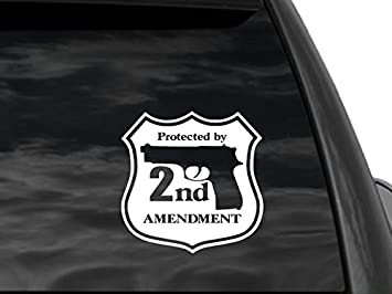 Amazoncom FGD Nd Amendment Security Rear Window Decal Universal - Rear window decals for cars