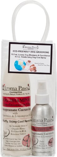 Aroma Paws Gift Pack, Includes Shampoo and Spray Pomegranate Cucumber