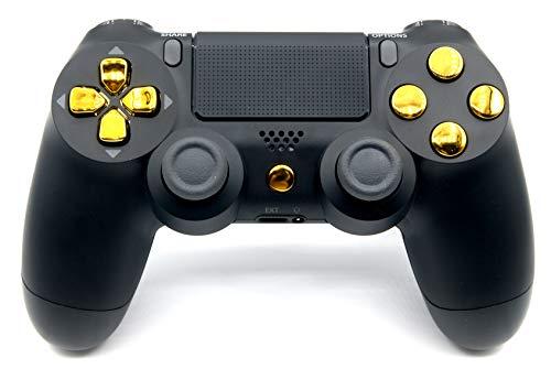 Black/Gold Playstation 4 V2 (new version) Rapid Fire Modded Controller 40...