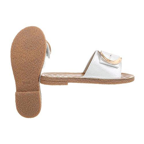 Italo Las tacón mulas las Design sandalias de en para bloquean plata 602 mujer Btxwt4aqO