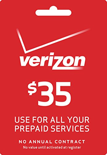 Verizon Wireless Prepaid - $35 Top-up Card (Verizon Phone Card)