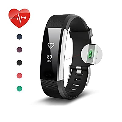 Fitness Tracker, KEDA OLED Touch Screen Smart Watch IP67 Waterproof Pedometer with Heart Rate Monitor Sleep Monitor Calorie Counter Bluetooth Activity Tracker for iOS and Android
