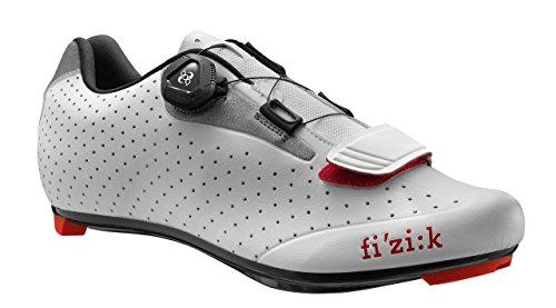 (Fizik R5 UOMO BOA Road Cycling Shoes, White/Light Grey, Size 47  White/Light)