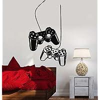 Joystick Wall Decal Gamer Video Game Play Room Kids Vinyl...