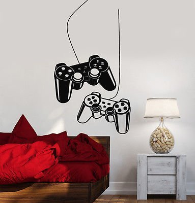 Joystick Wall Decal Gamer Video Game Play Room - Video Game Wall Decals