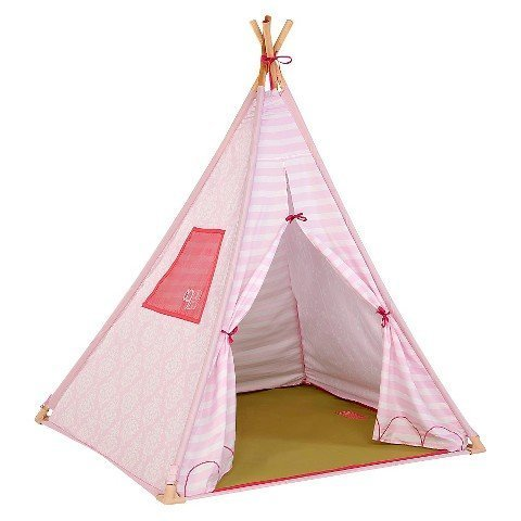 Our Generation Suite Teepee - Pink Polyester - Indoor - Night-Light Included - for Children and 18 Inch Dolls