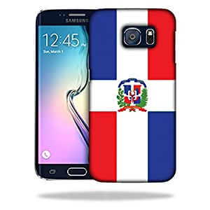 MightySkins Snap-On Protective Hard Case Cover for Samsung Galaxy S6 Edge Dominican Flag