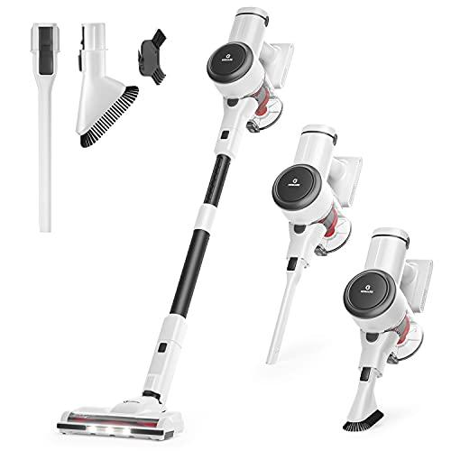 NEQUARE Cordless Vacuum Cleaner, Stick Vacuum Cleaner with 280W 25Kpa Powerful Suction 40min Runtime, 2200mAh Battery 4 in 1 Lightweight Handheld Vacuum for Car Pet Hair Carpet Hard Floor S25