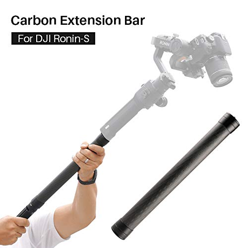 AgimbalGear Carbon Fiber Extension Monopod Pole Rod Extendable Stick 1/4 3/8 Thread Compatible for DJI Ronin S Moza Air Cross FeiyuTech AK4000 Zhiyun Crane 2 Smooth 4 Stabilizer Gimbal
