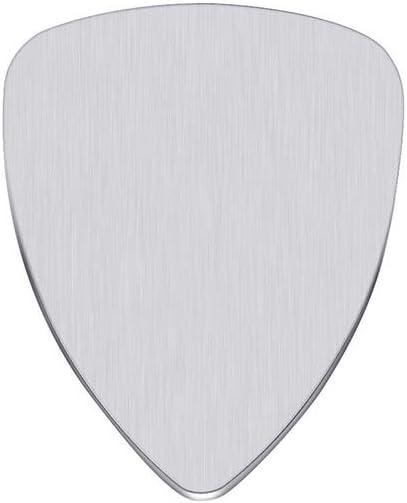 Púas de guitarra clásicas de titanio con letras de acero para ...