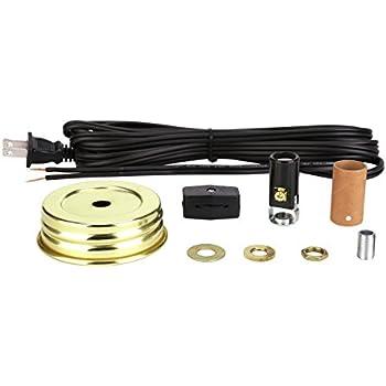 Aspen Creative 21022 Mason Jar Lamp Kit In Brass