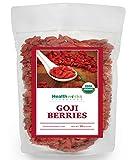 Healthworks Goji Berries, Raw Organic Sun-Dried, 1lb