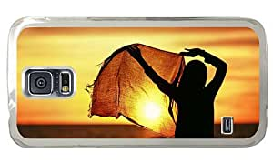 Hipster online Samsung Galaxy S5 Case girl hijab sunset PC Transparent for Samsung S5 by icecream design