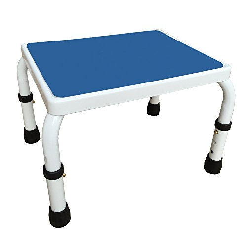 Superbe Amazon.com: AdjustaStep(tm) Deluxe Step Stool/Footstool With  Handle/Handrail, Height Adjustable. 2 Products In 1. Modern White/blue  Design. New For 2016.