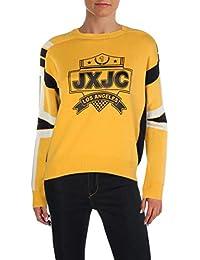de043cfb40d Juicy Womens Racer Crest Graphic Crew Neck Pullover Sweater · Juicy Couture
