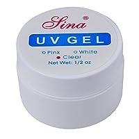 Nail Art UV Gel - SINA Nail Art UV Builder Gel Tips Glue Set Kit Art Extension Manicure£¨Transparent£©