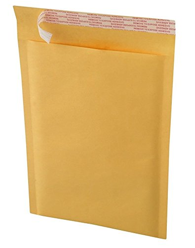 Bravo Pack 100 BROWN KRAFT BUBBLE MAILERS #DVD PADDED ENVELOPE SELF SEAL ENVELOPES - Ship Class First To Package Cost