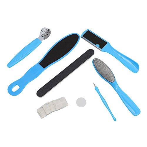 TraveT 8PCS Foot File Set Dead Hard Skin Callus Remover Scraper Pedicure Rasp Tools ()