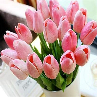Tulips Artificial Flowers Real Touch Flower Bouquet Pu Party Decoration - Mold Accts Making Real Frame Cutter Hair Bridal Oasis Wraps ()