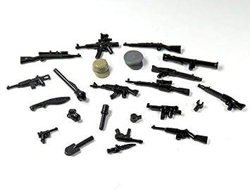 Custom Polizei Swat Waffen Set Mütze Maschinengewehr Zubehör Für
