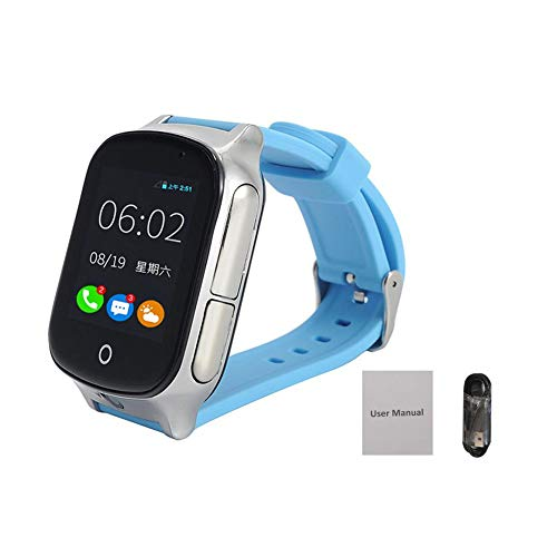 3G Smart Watch Phone for Kids - Smartwatch with GPS Tracker, Touchscreen, Camera, Touch SOS Remote Alarm, Fitness Trackers, Cell Phone Watches for Girls Boys Birthday Holiday Christmas (Blue)