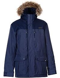 Mens Boost Ski Jacket Coat Top Long Sleeve Hooded Zip Full Fur Trim