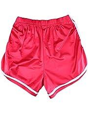 LIOOBO Chicas con Pantalones Cortos Chicas Adolescentes Pantalones Cortos Gimnasio Entrenamiento Yoga Deporte Rendimiento Corto