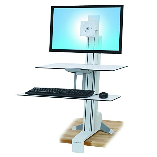 Ergotron 33-351-211 WorkFit-S Single HD with Work Surface and Stand by Ergotron