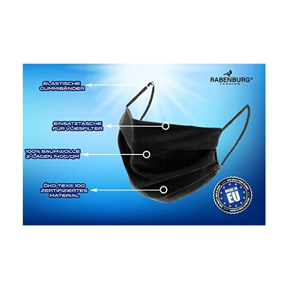 5er-Pack-Mund-Nasenmaske-Mundschutz-Maske-Behelfsmaske-Baumwolle-3-lagig-waschbar-unisex-schwarz