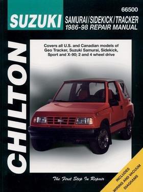 - Suzuki Samurai, Sidekick, and Tracker, 1986-98 (Chilton Total Car Care Series Manuals)