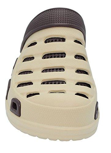 Pareja Zapatillas Chanclas Zapatos Jardín Mujer Kemosen Unisex Ultra para Ligeras Sandalias de Playa Hombres Marrón EVA xBq6YT4w
