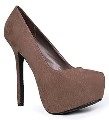 Breckelle's MARISA-21 Basic Classic Pointed Toe Platform High Heel Stiletto Party Pump