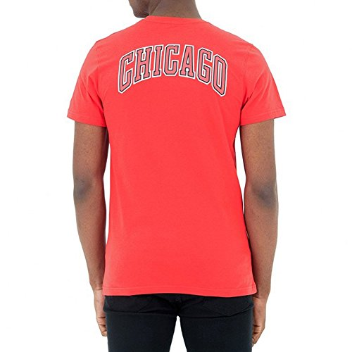 New Era, Uomo, Tip Off Chest N Back Tee Chicago Bulls, Cotone, T-Shirt, Rosso, L EU