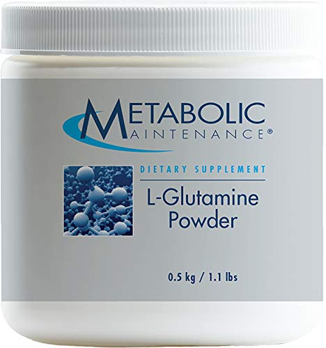 Metabolic Maintenance L-Glutamine Powder - 1000 mg, Pure Amino Acid Support for Gut Health, 500 Servings (500 Grams) ()