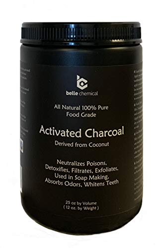 (Large - Less-Mess Jar Coconut Activated Charcoal Powder - Bulk - Food Grade, Kosher, NSF - Teeth Whitening, Facial Scrub, Soap Making)