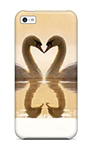 Premium Protection Loving Swans Case Cover For Iphone 5c- Retail Packaging