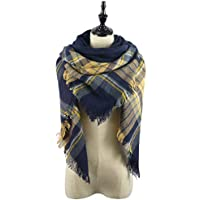 Zando Women's Scarves Fall Fashion Scarfs Soft Plaid Blanket Scarf For Women Winter Shawl Cape Scarf Wrap